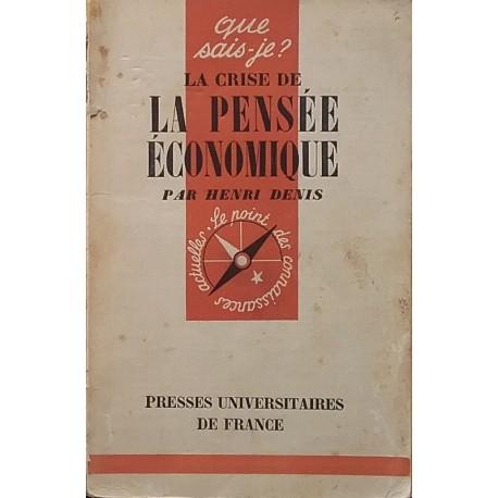 La Crise de la pensée économique