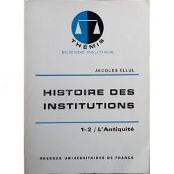 Histoire des institutions, 5 vols.