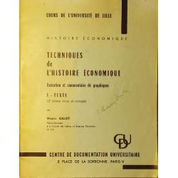Techniques de l'histoire économique. Exécution et commentaire de graphiques