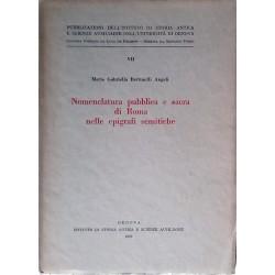 Nomenclatura pubblica e sacra di Roma nelle epigrafi semitiche