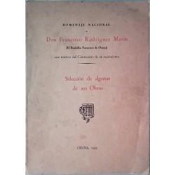 Homenaje nacional a Don Francisco Rodríguez Marín con motivo del centenario de su nacimiento
